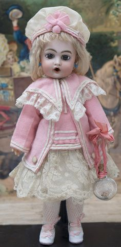 """13"""" Especially Beautiful French Bisque Bebe Bru Jne doll in Fine from respectfulbear on Ruby Lane"""