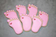 Baby feet. How cute would these be for a baby shower?