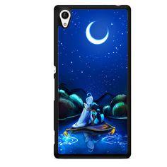 Aladin And Jasmine Romantic Half Moon Sony Phonecase For Sony Xperia Z1 Xperia Z2 Xperia Z3 Xperia Z4