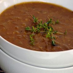 Ina Paarman's Beef and Lentil Soup Lentil Soup, Coriander, Soups And Stews, Lentils, How To Make Cake, Starters, Allrecipes, Healthy Recipes, Healthy Food