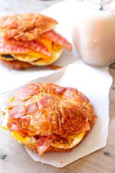 Frozen Croissant Breakfast Sandwiches | The Seaside Baker