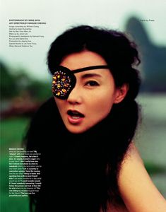 In i-D mag No.247 ( Sep, 2004). Photography: Wing Shya; Art Director: Maggie Cheung.