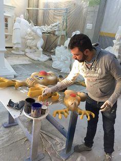 Reindeer, painting finishing