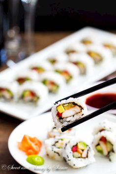Simple, homemade and fully cooked, these sushi rolls are delicious and easier than you think.