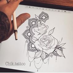 34 Trendy ideas for tattoo mandala rose men Mandala Tattoo Design, Dotwork Tattoo Mandala, Flower Tattoo Designs, Sternum Tattoo, Animal Mandala Tattoo, Small Quote Tattoos, Cute Small Tattoos, Trendy Tattoos, Tattoo Life
