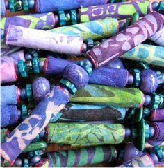 scrap fabric beads
