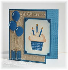 Mainly Flowers Independent Stampin' Up! Demonstrator Joanne Gelnar: Blue Birthday Balloons