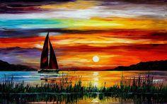 Sunset painting wallpaper   1920x1200   #11074