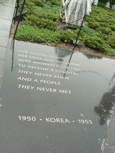 Korean War Veterans Memorial- The memorial was sobering and left you speechless. The statues looked real with detail in the faces and uniforms. The statues were motionlessly moving- best way to describe it.