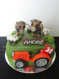 Doces Opções: Aniversário na quinta do André Cake, Design, Anniversary Cakes, Sweet Pastries, Agriculture, Pie Cake, Pastel, Cakes, Tart