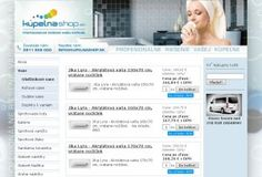 kupelnashop.sk Graphic Design, Shopping, Visual Communication