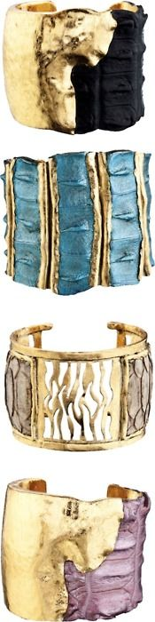 The texture of these bracelets, make them not only an accessory but, a work of art!