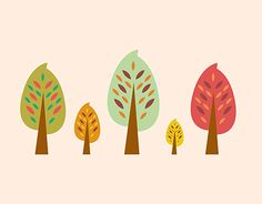"""Check out new work on my @Behance portfolio: """"Autumn Trees / Illustration"""" http://be.net/gallery/58450395/Autumn-Trees-Illustration"""