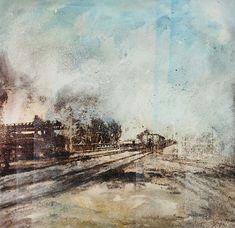 hafen basel www.gaetanazwemmer.ch Urban, Painting, Art, Art Background, Painting Art, Kunst, Paintings, Performing Arts, Painted Canvas