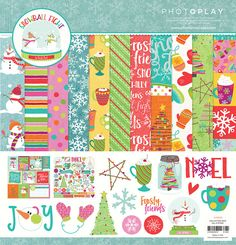 Photo Play Paper - Snowball Fight Collection - Christmas - 12 x 12 Collection Pack Scrapbook Supplies, Scrapbooking Layouts, Welcome Winter, Snowball Fight, Card Making Supplies, Papers Co, Winter Christmas, Winter Snow, Design Crafts