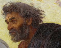 """""""Apostles Peter and John hurry to the tomb on the morning of the Resurrection"""" (detail) ca. 1898 by Eugène Burnand"""