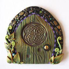 Celtic Irish Fairy Door Pixie Portal on Etsy, $20.00
