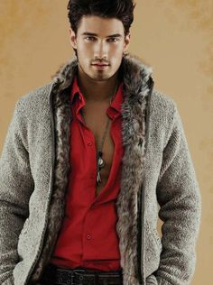 Man in Fur Jacket