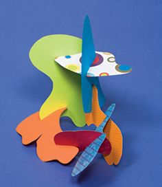 Paper Sculptures:  Inspired by artist Alexander Calder, these easy-to-make building pieces provide endless play for burgeoning art-chitects.