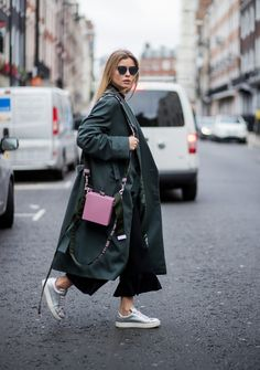 Style It With Flared Pants That Fall Just Below the Hemline of Your Coat