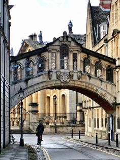 Hertford Bridge, popularly known as the Bridge of Sighs, is a skyway joining two parts of Hertford College over New College Lane in Oxford, England. Its distinctive design makes it a city landmark. It was completed in 1914