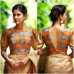 Latest Blouse Front and Back Side Neck Designs Blouse Back Neck Designs, Simple Blouse Designs, Stylish Blouse Design, Fancy Blouse Designs, Design Of Blouse, Latest Saree Blouse Designs, Indian Blouse Designs, Blouse Styles, Choli Designs