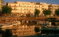 Cala Bona Harbour Majorca Spain Early Morning