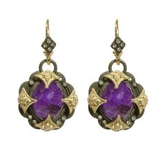 ARMENTA sugilite cravelli cross earring (1,975 CAD) found on Polyvore