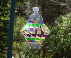 Recycled Plastic Bottle Wind Spinner at CraftsbyAmanda.com @Amanda Formaro