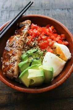 Salmon Rice Bowl | Packed with delicious and hearty ingredients, serve this dish over Mahatma White Rice for a complete dinner meal.