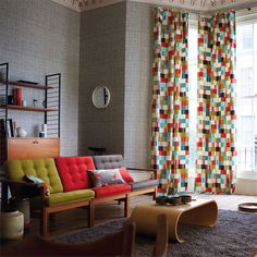 Khadi Wallpaper with Navajo fabric from Wabi Sabi by Scion Plain Wallpaper, Fabric Wallpaper, Scion Fabric, Moving House, Jpg, Modern Fabric, Wabi Sabi, Living Room Interior, Fabric Design