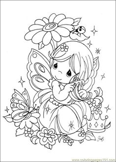 Coloring Pages 024 (Cartoons > Precious moments) - free printable coloring page online