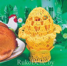 Вязаное крючком ажурное яйцо