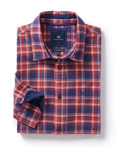 Buy our Flannel Classic Fit Check Shirt in Flame Red for 48.75 available in Flame-red at Crew Clothing Company. For more Shirts, visit Crew Clothing.