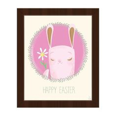 "Click Wall Art 'Flower for Easter' Framed Graphic Art Frame Color: Espresso, Size: 16.5"" H x 13.5"" W x 1"" D"