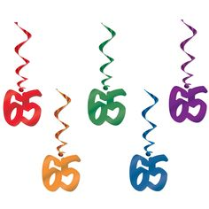 65th Hangy thingys. Swirls party decorations from google