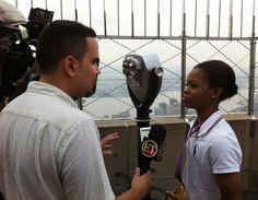 Gabby Douglas - Interview in New York