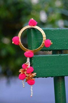 Silk Thread Bangles, Thread Jewellery, Tassel Jewelry, Bridal Jewelry, Indian Earrings, Diy Earrings, Gota Patti Jewellery, Silk Thread Necklace, Rakhi Design