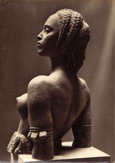 Geoges HAMARD (1874-1959), Buste altier de femme peuhl,