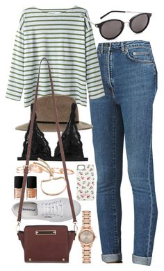 """Outfit for college tour"" by ferned ❤ liked on Polyvore featuring Yves Saint Laurent, MHL by Margaret Howell, Topshop, Superga, Kendra Scott, Monki, Burberry, Elgin, NARS Cosmetics and Miss Selfridge"