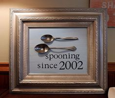 Spooning - Anniversary Gift - cute!