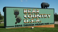 Bear Country U.S.A.in Rapid City, SD is a drive through zoo.                                                                                                                                                                                 More