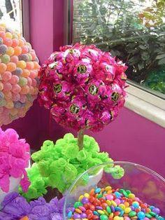 topiaria de flor artificial