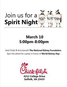 Chick Fil A Spirit Night Fundraisers Flyer Idea PFA Essentials - Chick fil a fundraiser flyer template