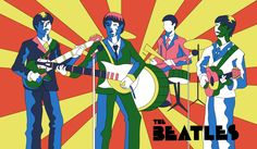 milton glaser artwork | The Beatles a la Milton Glaser by CyRaptor