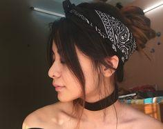 #Spring2016 #Fashion #HeadScarf #Bandana #Choker #Diy #StreetStyle