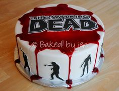 The Walking Dead themed Birthday Cake, special events cake, party cake. Or maybe just to celebrate season premieres ;)