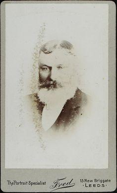 www.pastonpaper.com | Carte de Visite of Unidentified Male, Leeds, 1890s Facial Hair, Leeds, Old Photos, Artwork, Carte De Visite, Old Pictures, Work Of Art, Auguste Rodin Artwork, Face Hair