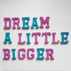 Dream a Little Bigger - Dream a Little Bigger Craft Blog - Fridge Letters - Cute Alphabet Magnets