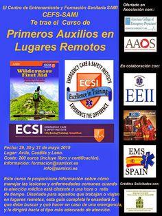 EMS SOLUTIONS INTERNATIONAL: Curso Primeros Auxilios en Lugares Remotos de Emer...